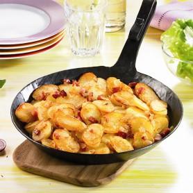 Frische Bratkartoffeln mit Speck und Zwiebeln (ab 1,0 kg)